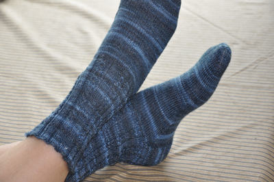 Mini-cabled socks size 7.5