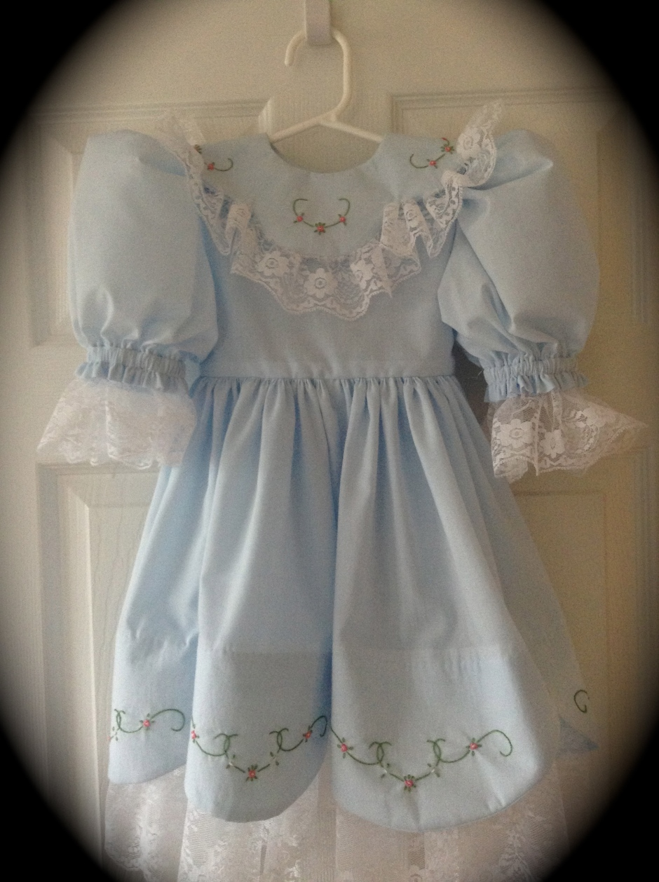 Blue Easter Dress