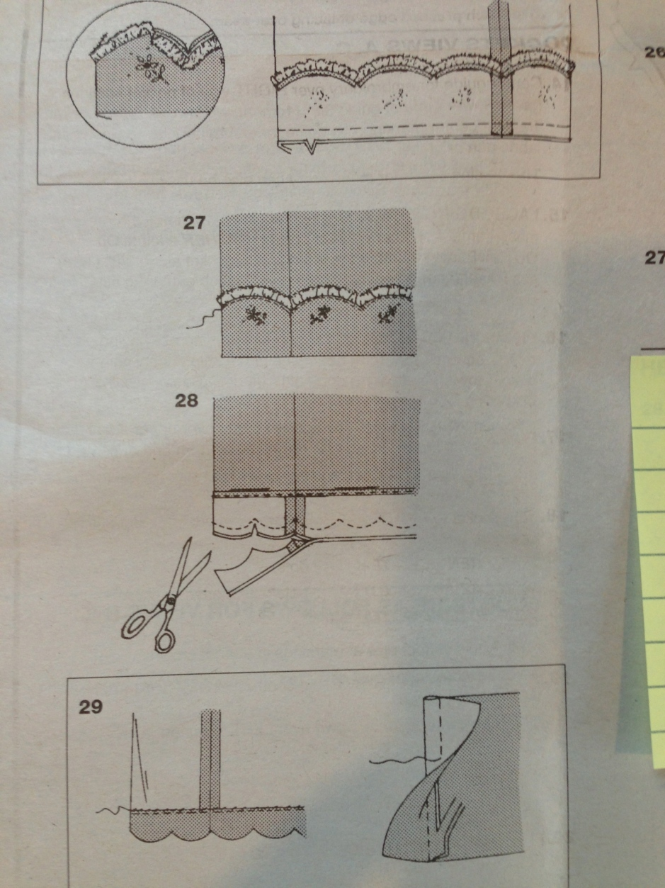Confusing skirt instructions