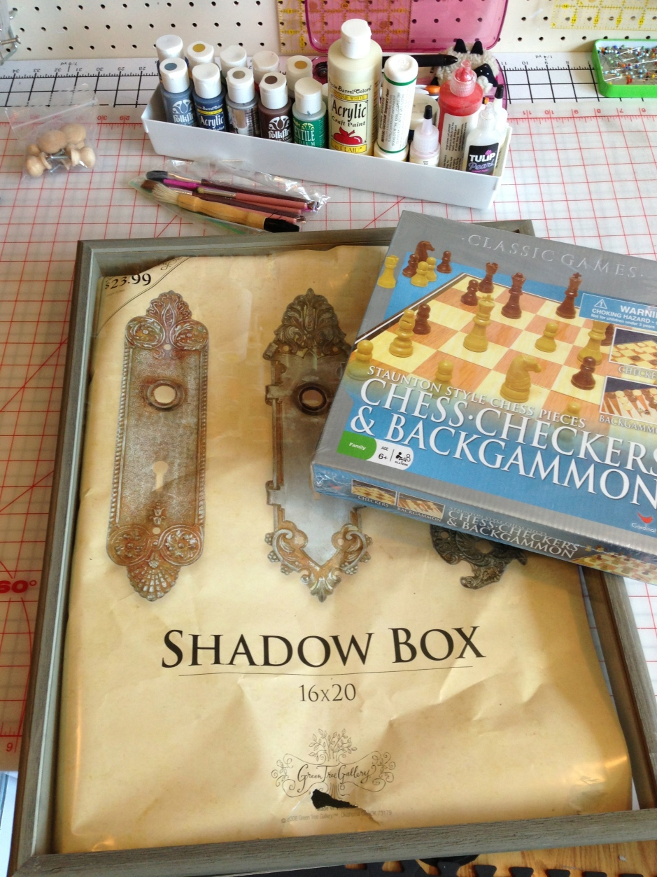 Shadow Box and Chess Set