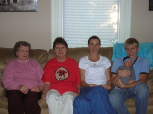 Frances, Georgia, Deborah, Bryan, and William - 5 generations