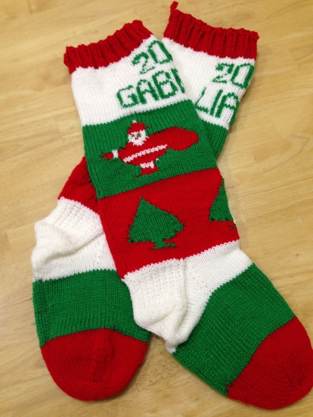 Stockings for Liam and Gabriel
